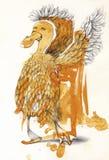 Dancing Duck Illustration Stock Photography