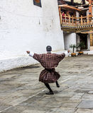 Dancing in the dzong Royalty Free Stock Image