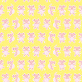 Dancing elephants pattern Stock Photo