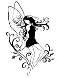 Dancing elf. Cute graphic illustration of a fairy Stock Image