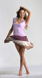 Dancing  emotion girl Royalty Free Stock Photo