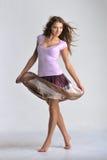Dancing  emotion girl Stock Photos