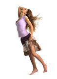 Dancing emotion girl stock photography