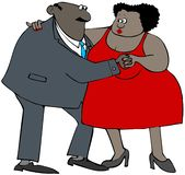 Dancing etnico delle coppie Royalty Illustrazione gratis