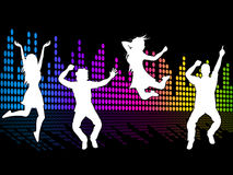 Dancing Excitement Indicates Sound Track And Soundtrack. Excitement Dancing Showing Sound Track And Musical Royalty Free Stock Photo
