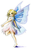 Dancing fairy. Beautiful fairy dancing isolated on white Royalty Free Stock Photo