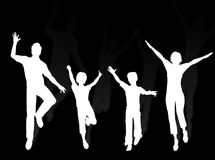 Dancing family Royalty Free Stock Photography