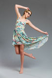 Dancing fashion model. Royalty Free Stock Photo