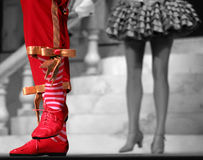 Dancing Feet. The legs of 2 people perfoming on stage Stock Image