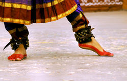 Dancing feet of Classical dancer Royalty Free Stock Images