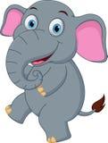 Dancing felice del fumetto dell'elefante illustrazione di stock