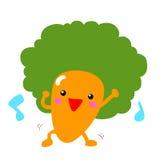 Dancing felice della carota di afro con la musica Fotografie Stock Libere da Diritti