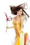 Dancing female stock photography