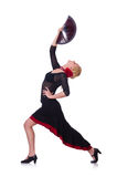 Dancing femminile del ballerino Fotografia Stock