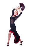 Dancing femminile del ballerino Immagini Stock Libere da Diritti
