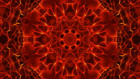 The Dancing Fiery Kaleidoscope. Animation Loop stock footage