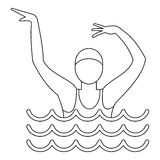 Dancing figure icon, simple style Stock Photos
