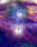 Dancing Figure In Cosmic Space Royalty Free Stock Photography