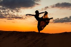 Dancing figure of a woman. Royalty Free Stock Photos