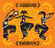 Dancing figures Stock Images