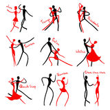 Dancing figures. Stock Images