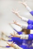 Dancing fingers. Fingers of  bollywood dancers, in the dance studio Stock Photo