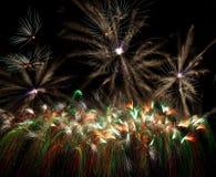 Dancing firework Stock Photography