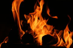 Dancing Flames Stock Photo