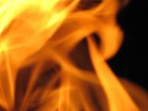 Dancing flames. Royalty Free Stock Image