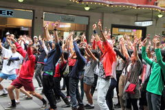 Free Dancing Flash Mob In City Royalty Free Stock Photos - 24823858