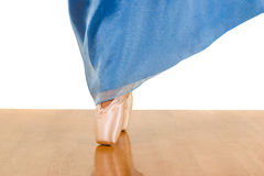 Dancing on the floor. Emotional movement of ballet dancer Stock Photo