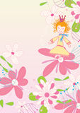 Dancing On Flower_eps. An illusion of girl dancing on flower with gradient background Royalty Free Stock Photo