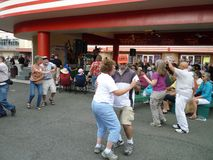 Dancing at the Folk Festival Stock Images