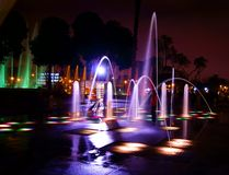 Dancing Fountain Stock Image