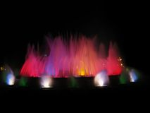 Dancing fountain in Barcelona Stock Photography