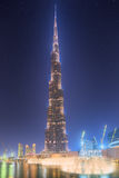 The dancing fountain Burj Khalifa in Dubai, UAE Royalty Free Stock Photography