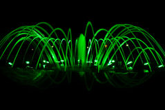 Dancing fountain at night Stock Photography
