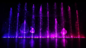 Dancing fountain stock video