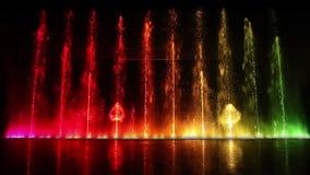 Dancing fountain stock video