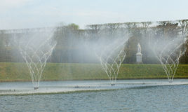 Dancing fountain in Versailles Stock Images