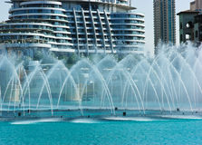 The Dancing fountains downtown Royalty Free Stock Photo
