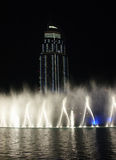 The Dancing fountains  downtown and man made lake Stock Image