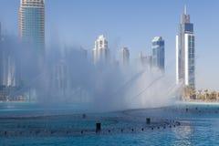 Dancing fountains in Dubai, UAE Stock Images
