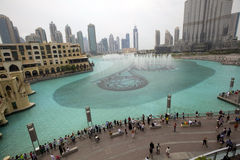 The Dancing fountains ,DUBAI Stock Images