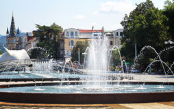 Dancing Fountains in Batumi Stock Photography