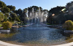 Dancing fountains of villa Rothschild, France. Dancing fountains of villa Rothschild, Cap Ferrat, French Riviera, France Stock Image