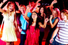 Dancing friends Royalty Free Stock Photos