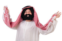 Dancing funny arab man Stock Photos