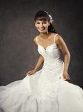Dancing Funny Bride in Wedding Dress, Emotional Bridal Portrait Royalty Free Stock Photos