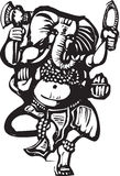 Dancing Ganesha B Stock Photo